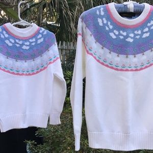 sweaters for mother/daughter or big/little sis
